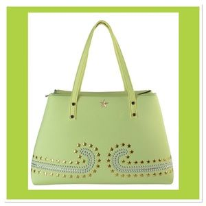Lime Green Studded Neoprene Tote